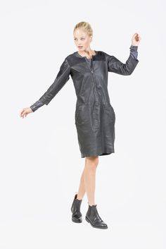 Combi Leather Dress by Humanoid | #kickpleat #humaniid