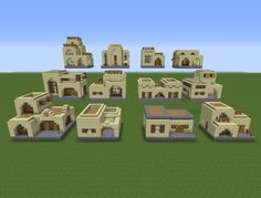 12 House Designs X 2 Building styles = 24 Unique houses //For a desert biome most likely.