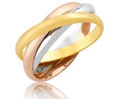 Entrelacées - 3Ors - 2 mm - 3 demi-joncs en couleurs d'or différentes (or jaune, or blanc, or rose) sont entrelacés pour former une alliance originale. Le passage à l'articulation est facilitée par leur mobilité. Chaque anneau mesure 2 mm de largeur et son poids varie entre 4,8 et 5,8 grammes. Cette alliance est en or jaune 18 carats, or blanc 18 carats, et or rose 18 carats.  http://www.adamence.com/alliance-3-ors-entrelacees-3ors-2-mm-438