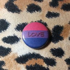Bisexual Flag Love Button or Magnet by jaxxisbuttons on Etsy