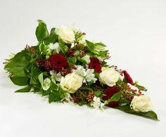 Bårebuket, rød og hvid #bårebuket #bloomit