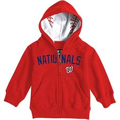 Washington Nationals Toddler Baseball Zip Hood by Soft as a Grape 4 Toddler * Read more at the image link. (This is an affiliate link) #BabyBoyHoodiesandActive