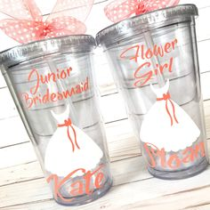 Will you be my Junior Bridesmaid or Flower Girl Personalized Tumbler Junior Bridesmaid Gifts, Bridesmaid Gift Boxes, Be My Bridesmaid, Wedding Bridesmaids, Cheap Bridesmaid Gifts, Bridesmaid Ideas, Bridesmaid Gowns, Wedding Dresses, Bridal Shower Gifts For Bride