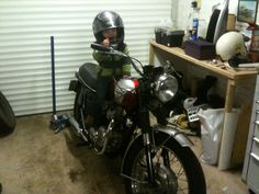 He will b out on it soon Triumph Bonneville T120, Motorcycle, Biking, Motorcycles, Engine, Choppers, Motorbikes