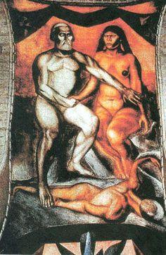 """Orozco - """"Cortes y Malinche"""""""