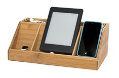 Amazon.com: Lipper International 812 Bamboo Wood Charging Station for Cell Phones, iPads, Tablets: Home & Kitchen