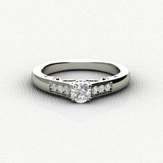 Diamond Engagement Ring in White Gold ***(FOR DISCOUNT USE COUPON CODE: PramodWBMKD)***