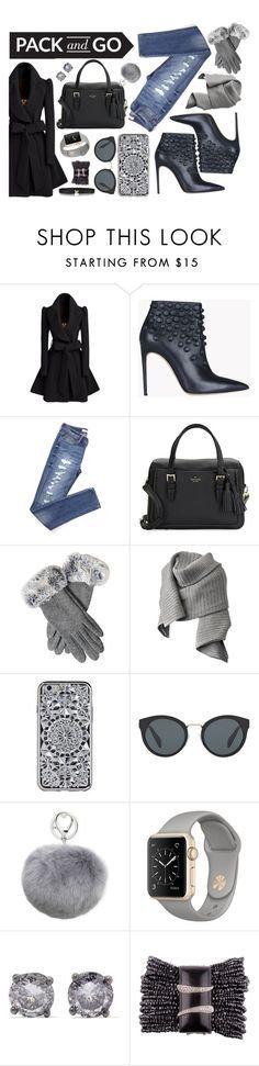"""Pack & Go Fashion by PUMP Magazine"" by amanda-noel-fischer ❤ liked on Polyvore featuring Dsquared2, Kate Spade, Acne Studios, Prada, Adrienne Landau and Bottega Veneta"