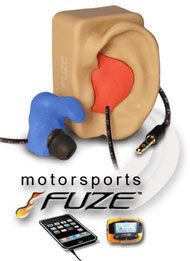 Fuze Custom Fit Molded Earphones Headphones | Affordable Custom Molded earphones for sports, motorsports, motorcycle helmet speakers, driver earpieces