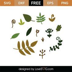 Free Natural elements-01 SVG Cut File