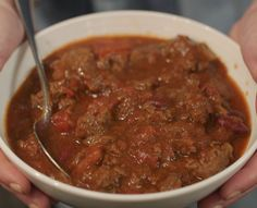This Southern style Hearty Meat Chili will keep things warm even when it's cold outside. #kosher   www.kosher.com