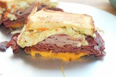 """Not Your Ordinary Sandwich! I know most of you have tried a traditional Reuben sandwich with roast beef, Swiss cheese and sauerkraut. Well those are great sandwiches, but I decided to """"creolize"""" my sandwich by changing things up and creating this Reuben Melt, Creole Style! You must start off making a good Creole slaw. And …"""