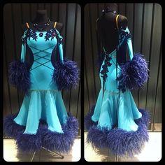 Luxury ballrom dress from blue paradise #ballroom #ballroomdress #dlk_united_design #dancewear #wdsf