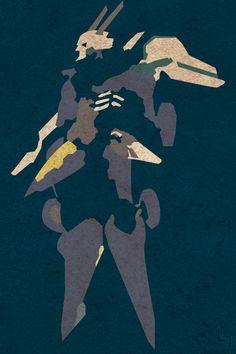 Minimalistic Designs Orbital Frame Naked Jehuty, Zone of the Enders