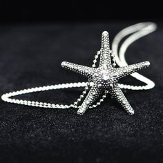 Beach Necklace Silver Starfish Pendant Unique Gift by #LeFrenchGem CLICK & use coupon code PIN10 to save 10%