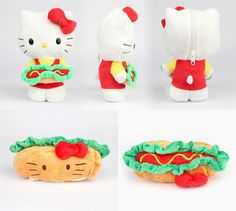 Hello Kitty Reversible Plush from Sanrio Sanrio Hello Kitty, Hello Kitty Plush, Hello Kitty Items, Kawaii Cute, Kawaii Stuff, Baby Sewing Projects, Designer Toys, Plushies, Doll Toys