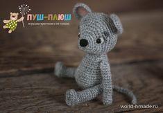 Вязаная крючком мышка Василиса [мышкомания 2020]. Мастер-класс по вязанию игрушки. Crochet Mouse, Teddy Bear, Toys, Animals, Amigurumi, Activity Toys, Animales, Animaux, Clearance Toys