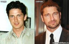 Gerard Butler Celebs Then and Now photo Celebrities Before And After, Celebrities Then And Now, Young Celebrities, Celebs, Actors Then And Now, Then And Now Photos, Gerard Butler Young, Young Old, Celebrity Gallery