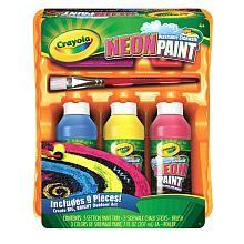 Crayola Neon Outdoor Wash Paint Kit