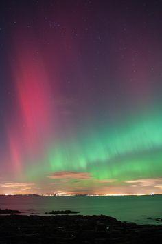 Auroras boreales desde Longniddry, East Lothian, Escocia. 27 de febrero de 2014 Crédito: Michal