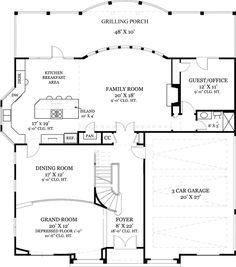 Plan W12237JL: Luxury, European, Corner Lot, Spanish, Sloping Lot, Mediterranean House Plans & Home Designs