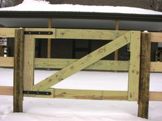 3-Rail Horse Fence Gate