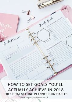 What will you have liked to achieve? Use these steps to set goals that you'll actually achieve - FREE goal planner! Free Planner, Goals Planner, Planner Pages, Printable Planner, Free Printables, Planner Ideas, Happy Planner, Bujo, Planners