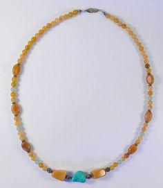 Aventurine and Turquoise Genuine Necklace by PaulasOriginalDesign