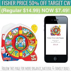 OMG who remembers this baby toy? Today cartwheel app has a new 50% OFF CW on this very fun toy! Making it only $7.49! AFTER CW. . Tag a Friends that needs THIS for a baby   #tomorrowsmom