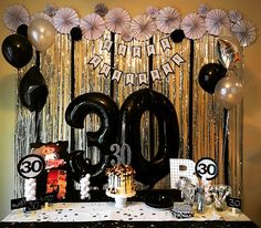 30th Birthday DIY Flower Rosettes Banner Center Piece Backdrop Cake IG Alwaysmadewithlove