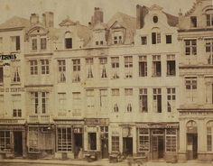 De Grote Markt aan de kant van de Boter Straat in 1880
