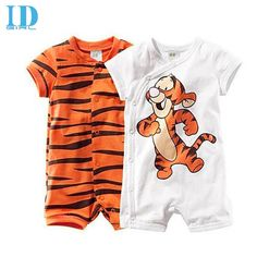 Red Baby Simba Drawing Baby Romper 0-18 Months Newborn Baby Girls Boys Layette Rompers Black