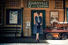 Sesja kolekcji QUIOSQUE na sezon jesień-zima 2014/2015 #QSQ #photography #photo #retro #vintage #england #greatbritain #fashion #inspiration #autumn #fall #look #outfit #women #beauty #style #casual #elegance #vintage #retro