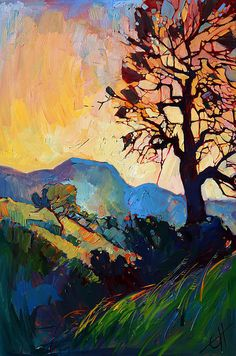 erin hanson trees, mountain