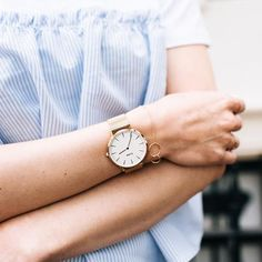 Cluse La Bohème Mesh Rose Gold/White Watch.  Available at www.modespot.be