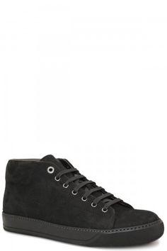 32d615386 Lanvin Black High Top Elephant Sneaker, , Mens Designer Shoes, Black High  Tops,