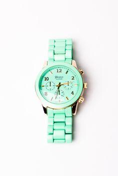 Basic Oversized Watch in Mint//