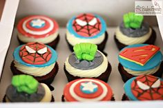 personalized cakes, bake at home recipes Fondant Cupcake Toppers, Personalized Cakes, Easy Homemade Recipes, Superhero Birthday Party, Themed Cupcakes, Pie Cake, Vintage Recipes, Super Hero Cupcakes, Yummy Drinks