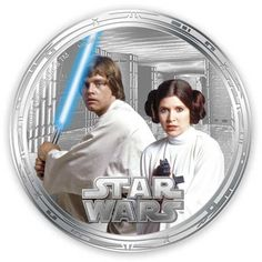 Moneda de plata de la saga Star Wars