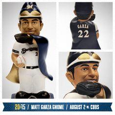 Here's a peek at the Matt Garza gnome on August 2. #Brewers #MattGarza
