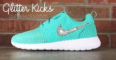 Nike Roshe One Customized by Glitter Kicks - White/Teal