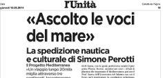 Simone Perotti intervistato per l'Unità parla del Progetto Mediterranea