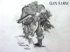 Belle sauvée par la Bête : une rare et magnifique recherche de Glen Keane. Wow.