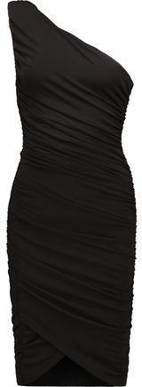 Alice + Olivia Deedee One-Shoulder Ruched Stretch-Jersey Dress