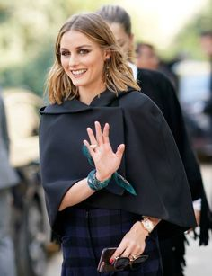 Olivia Palermo attends the Christian Dior show as part of the Paris Fashion Week Womenswear Spring/Summer 2018 on September 26 2017 in Paris France