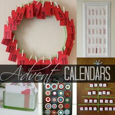 Advent Calendars Crafts. Just throwing in general idea. There are so many different ones.