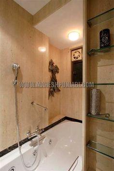 Wooden batten ceiling maheshpunjabiassociates for Bathroom designs mumbai