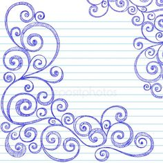 Sketchy Swirls Notebook Doodles Vector royalty-free sketchy swirls notebook doodles vector stock vector art & more images of abstract Zentangle Patterns, Embroidery Patterns, Quilt Patterns, Zentangles, Origami Fashion, Doodle Drawings, Doodle Art, Notebook Doodles, Notebook Paper