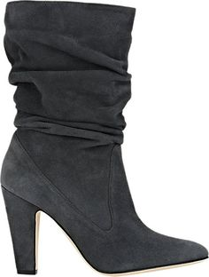 Manolo Blahnik Ruched Artesina Boots - Ankle Boots - Barneys.com