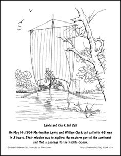 free lewis and clark printable worksheets and coloring pages